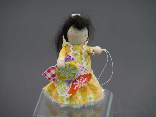 Yellow Quilter Doll