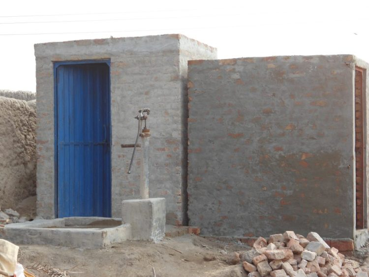 Construction of Latrine in Rahim Yar Khan 2012-2013
