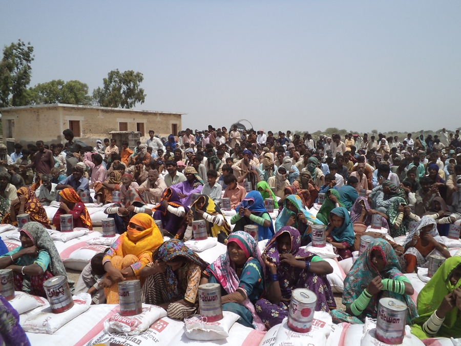 Distribution of Food Packages in TMK Sindh 2012