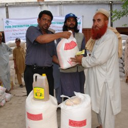 Distribution of Food Package in Sawabi 2005