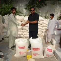 Distribution of Food Packages among IDPs Buner and Swat 2009