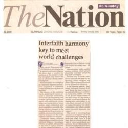 Interfaith Hammony Key to Meet World Challange