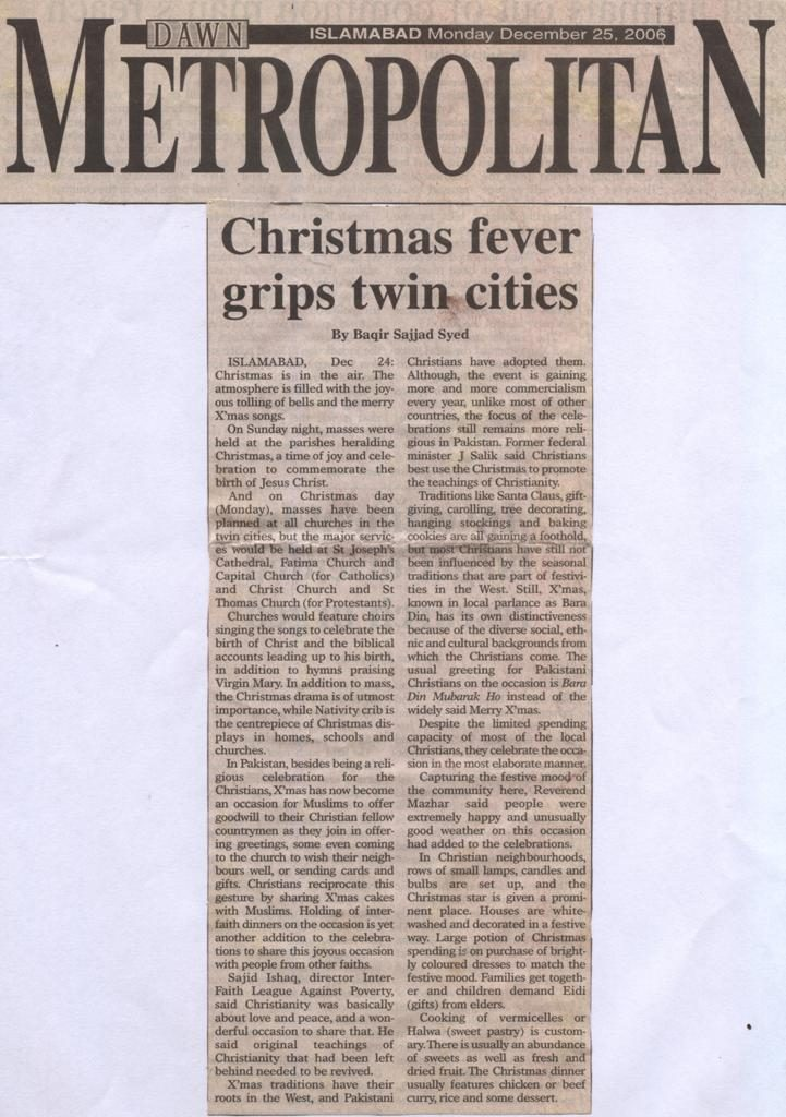 Christmas fever grips twin cities