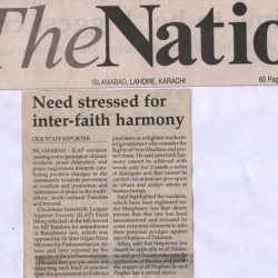 Need stressed for inter-faith harmonyNeed stressed for inter-faith harmony