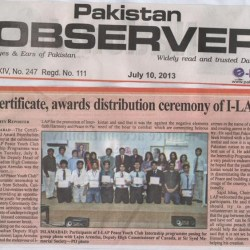 Certificates, Awards distribution cermony of I-LAP