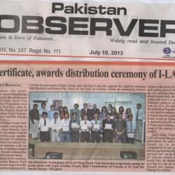 Certificates, Awards distribution cermony of I-LAP