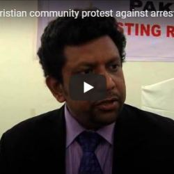 Christian community protest against arrest of teenage girl on blasphemy charge