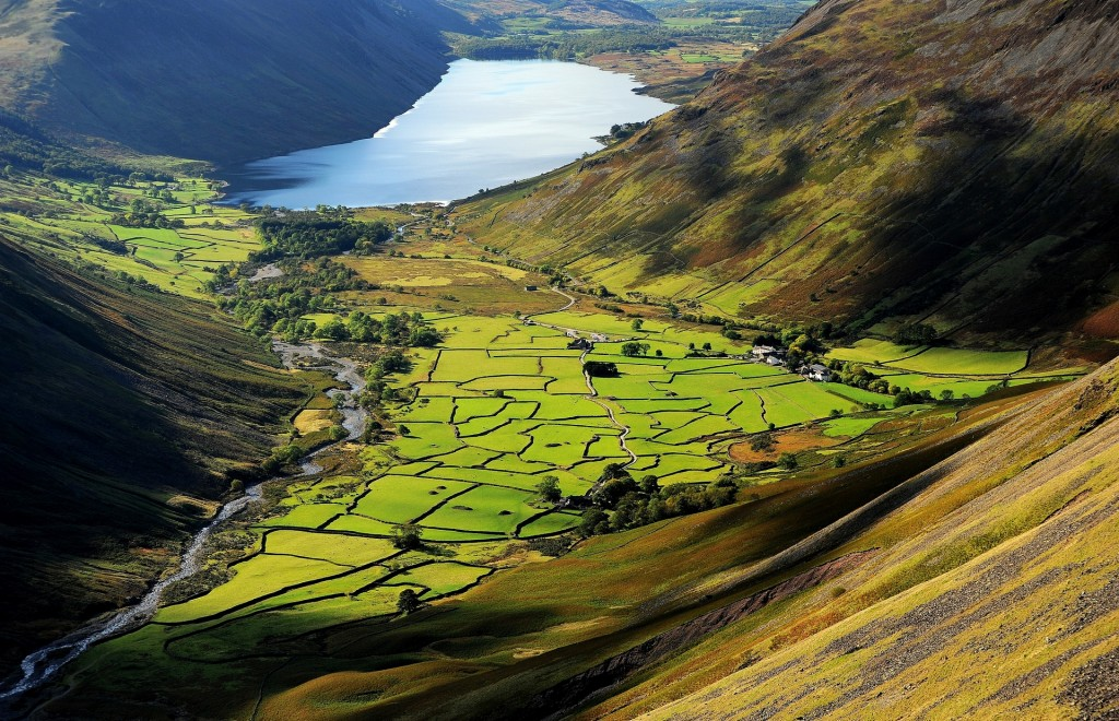WASDALE HEAD e WASTWATER visti dal sentiero che sale alla cima del GREAT GABLE