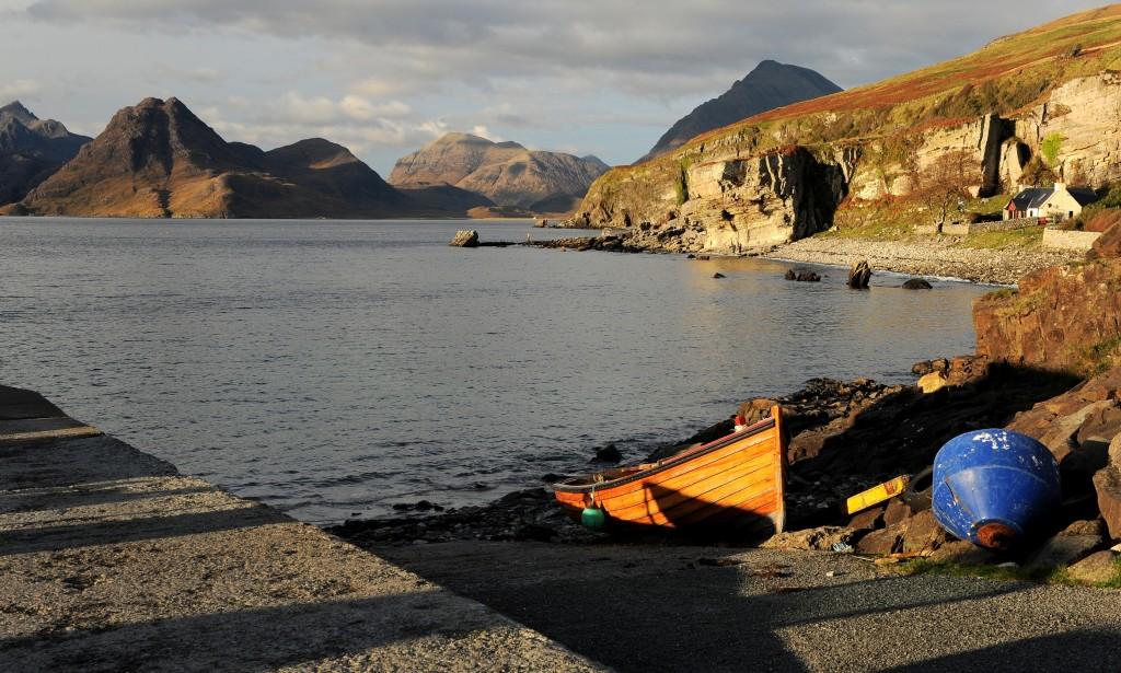 Il porticciolo di ELGOL, nel remoto sud-ovest di Skye