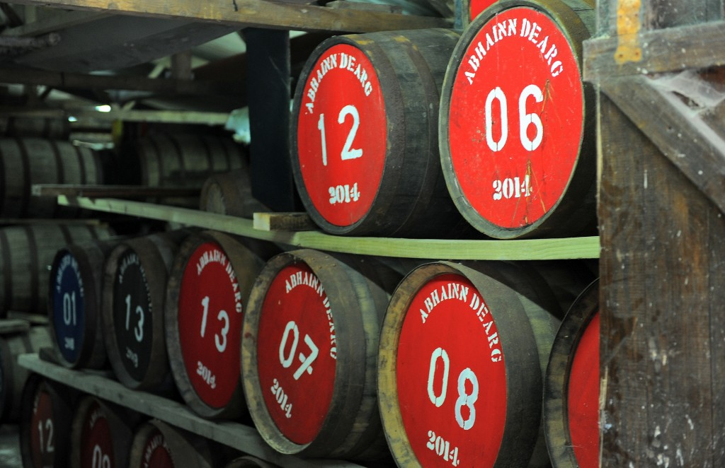 Le botti della ABHAINN DEARG Distillery