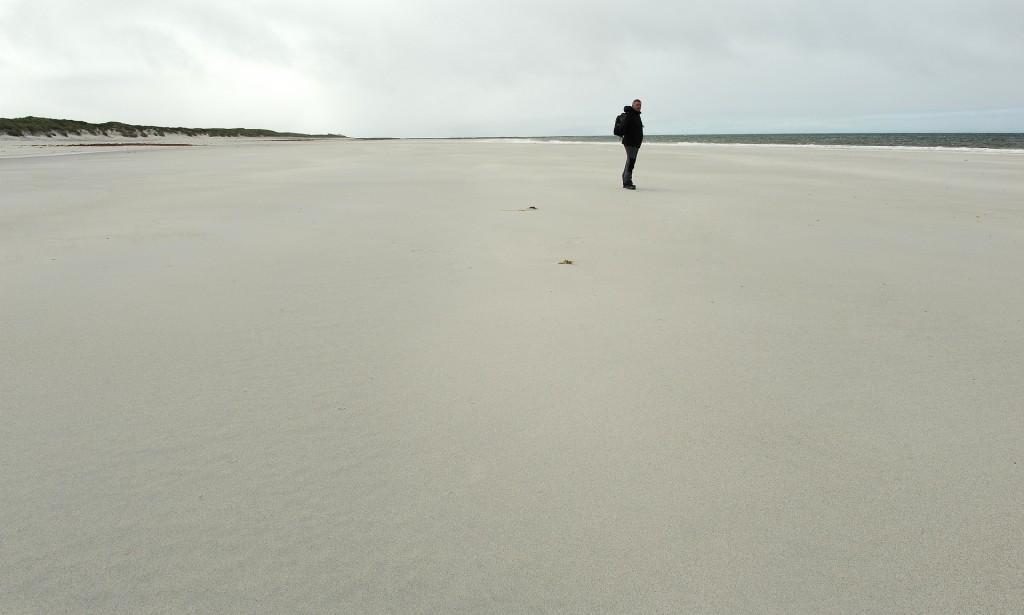"""Dopo tanto camminare fra interminabili distese di """"machair"""", spiaggia finalmente conquistata!!!"""