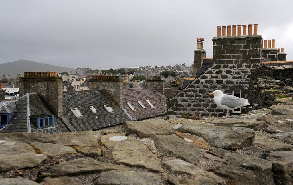 La vista sui tetti di LERWICK