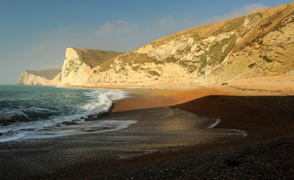 Una delle magnifiche spiagge lungo la JURASSIC COAST