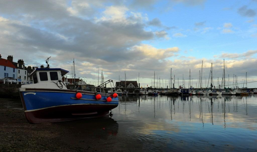 Uno scorcio serale del porto di ANSTRUTHER