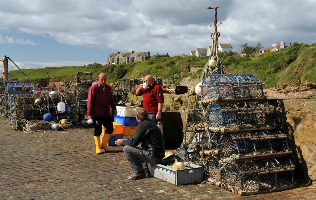 Un momento di relax per i pescatori di CRAIL