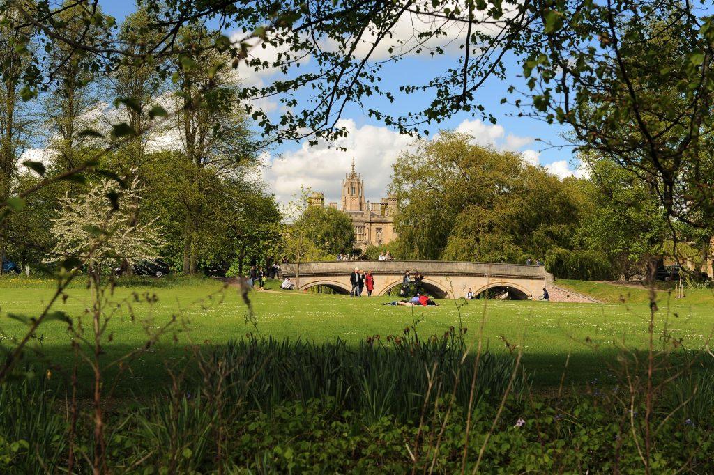 Un tipico scorcio primaverile nel centro di CAMBRIDGE