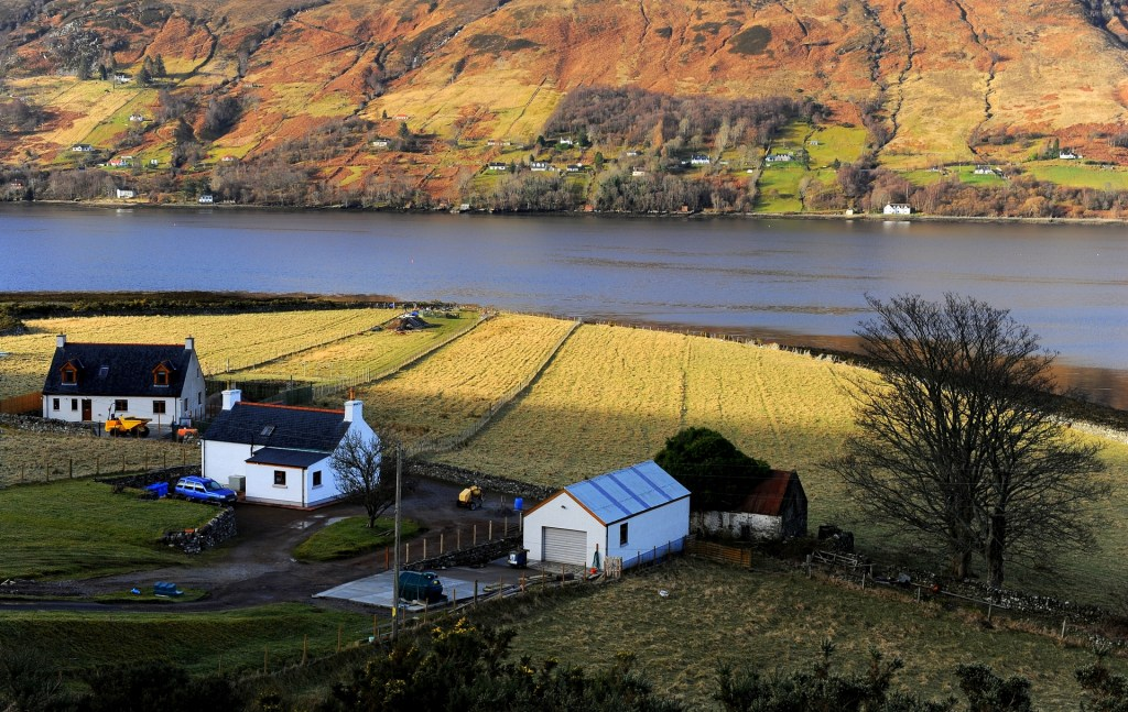 La vista del LOCH BROOM dalla nostra stanza al BROOMVIEW COTTAGE B&B