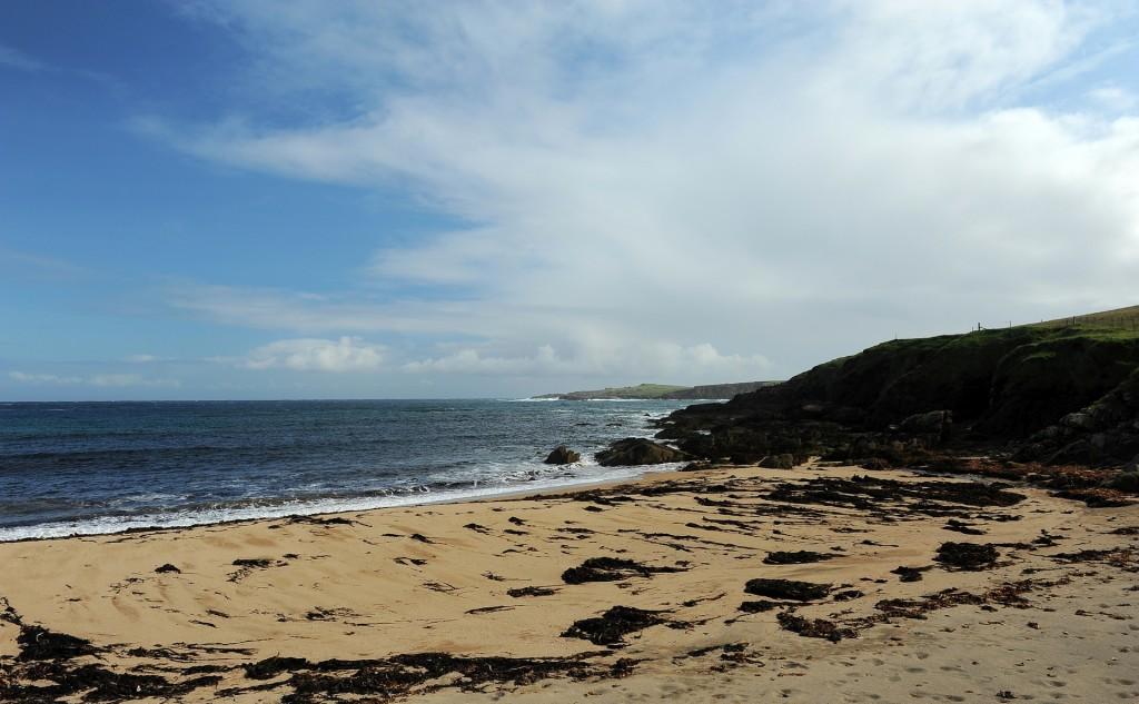 La spiaggia di SKAW, la più a nord di tutto il Regno Unito