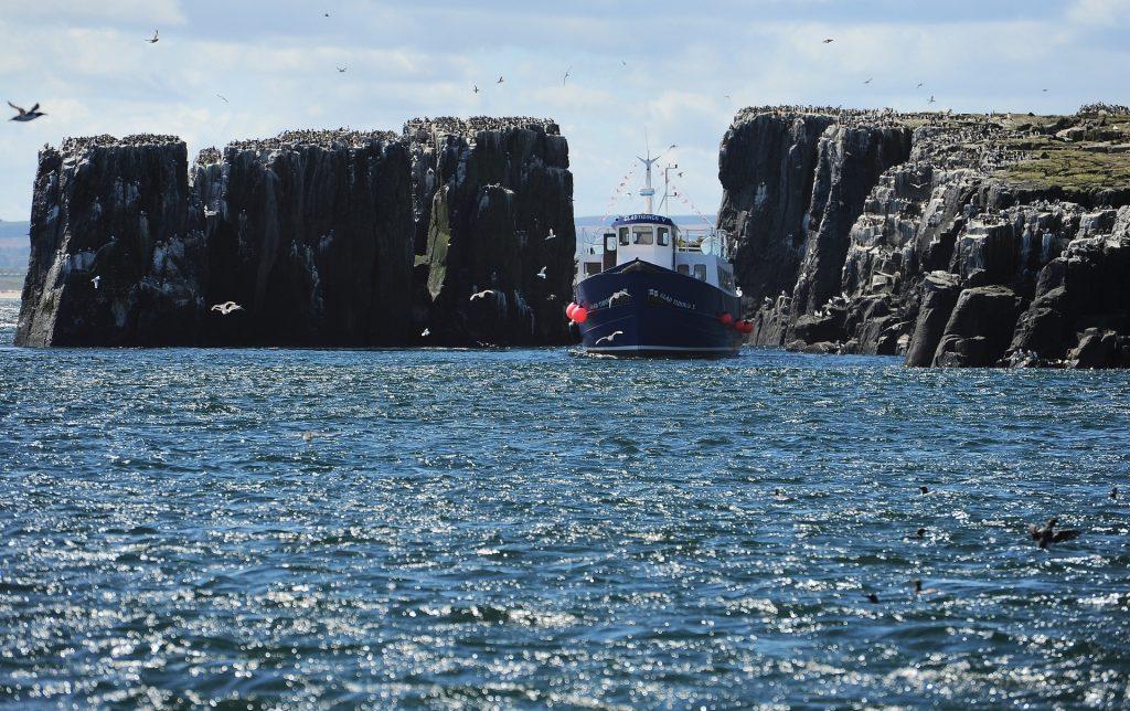 Un'altra barca durante la navigazione