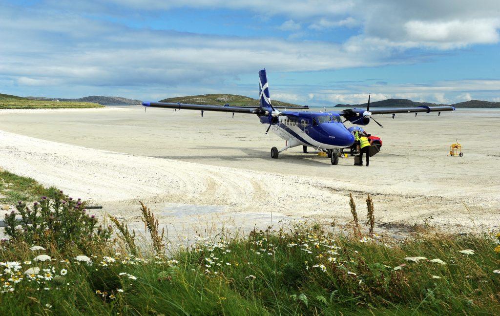 Il piccolo aereo a elica della FLYBE