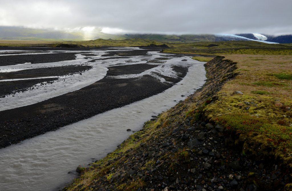 Coltri di nuvole nella zona del ghiacciaio VATNAKJOULL