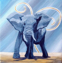 Blue elephant .Sold