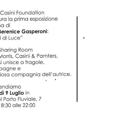 exhibition Ilaria Berenice Morris Casini foundation Rome