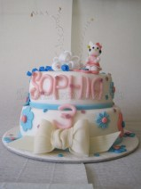 Torta 2 piani hello kitty