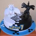 torta pokemon bianco e nero