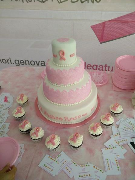 Torta e cupcakes a tema Nastro Rosa