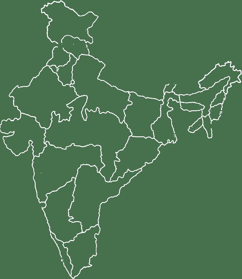Karte von Kafeeanbau in Indien