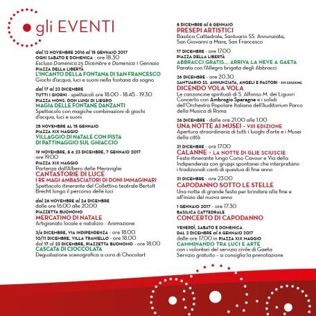 Eventi Natale e Capodanno Gaeta 2016