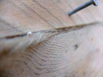 modello di calafataggio su fasciame in tavole di legno