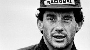 Ayrton Senna the reigning Formula One World Champion with McLaren-Honda, at Silverstone.