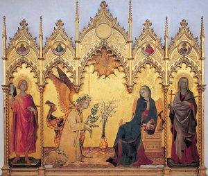 Il gotico internazionale, Annunciazione di Simone Martini e Lippo Memmi