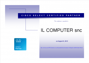 Cisco Select Certified Partner - 8 Agosto 2012