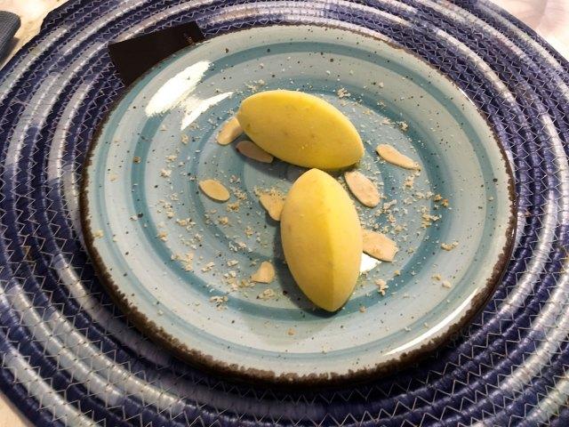 Gelato artigianale di mela Julia e zafferano