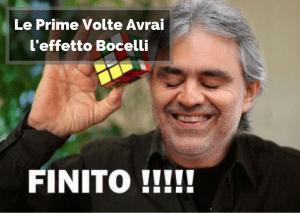 Bocelli non sapeva come risolvere il cubo di rubik in 20 mosse