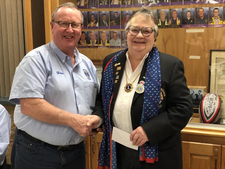 Lion Glenn Phillips and DG Barb Tuxford