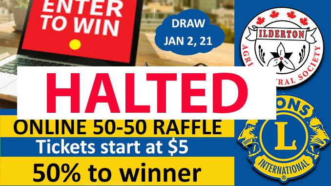 50 50 draw halted