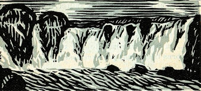 godafoss, goðafoss,chute d'eau
