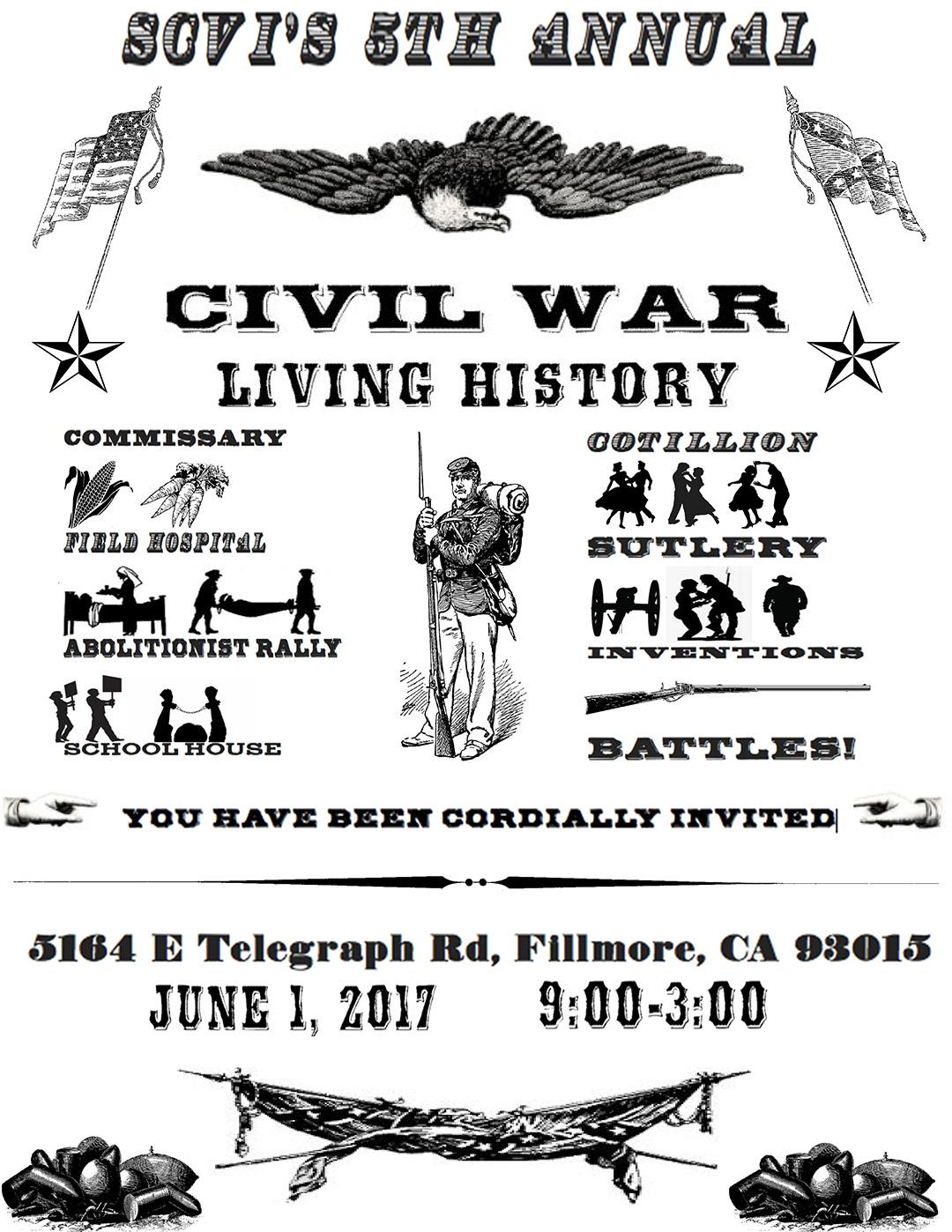 Scvi 8th Grade Presents 5th Annual Civil War Living History Day