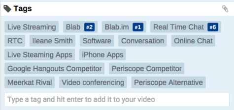 Vidiq Tag Tracking for the Blab.im Video