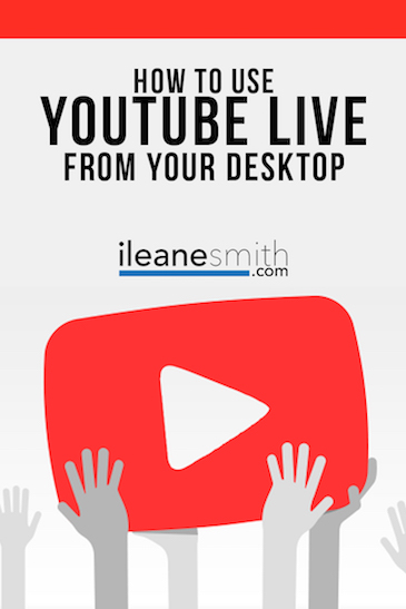 How to go LIve on YouTube from Desktop