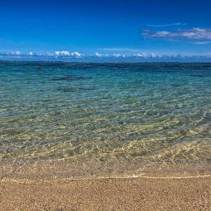 Eau translucide de la plage de Saint-Felix à l'Île Maurice