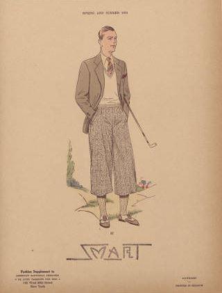 affiche de sportif du XXe siècle en tweed