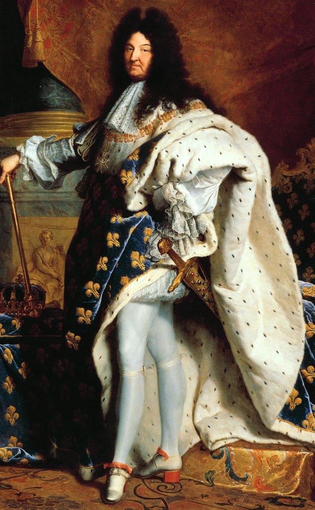 Louis XIV - boucle, aile de moulins et talons rouges