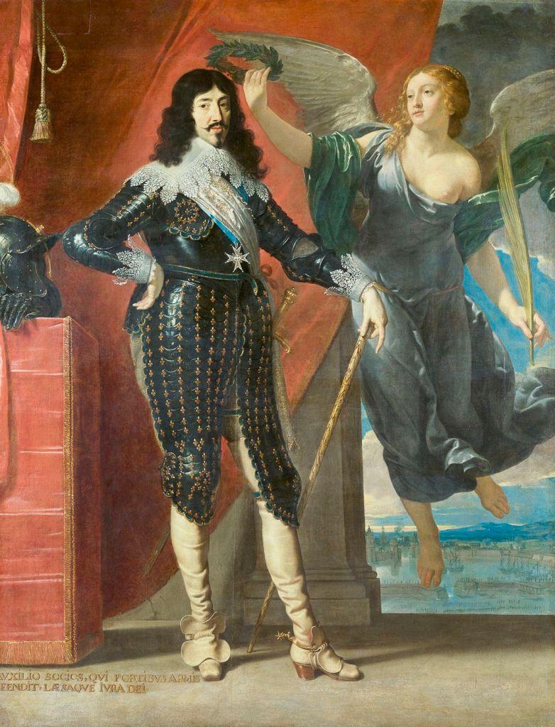 Louis XIII couronné par la Victoire  peinture de Champaigne 1635
