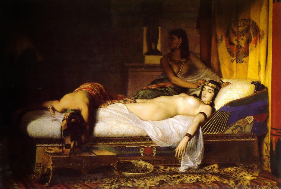 Mort de Cléopâtre par Rixens
