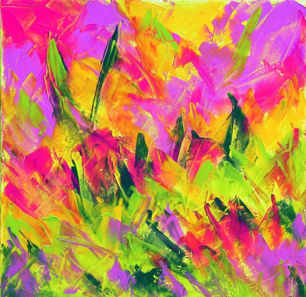 First painting, 'Spring Awakening'